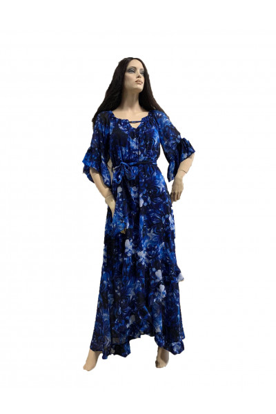 SIDERATI Γυναικείο Φόρεμα μουσελίνα S8018