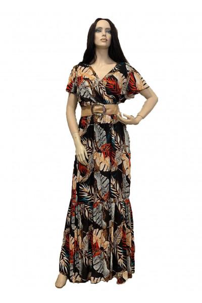 Effect Φόρεμα Εμπριμέ μαύρο F9530