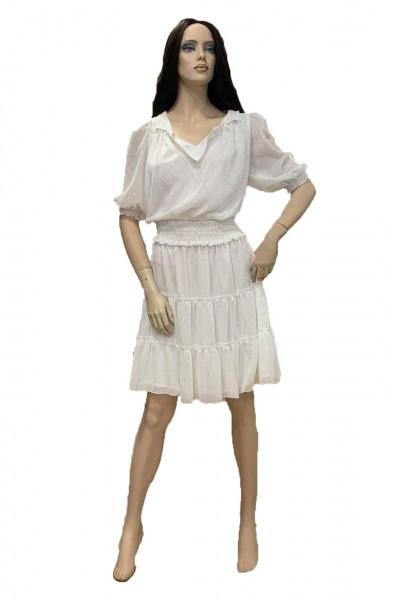 Effect Γυναικείο λευκό φόρεμα F9725