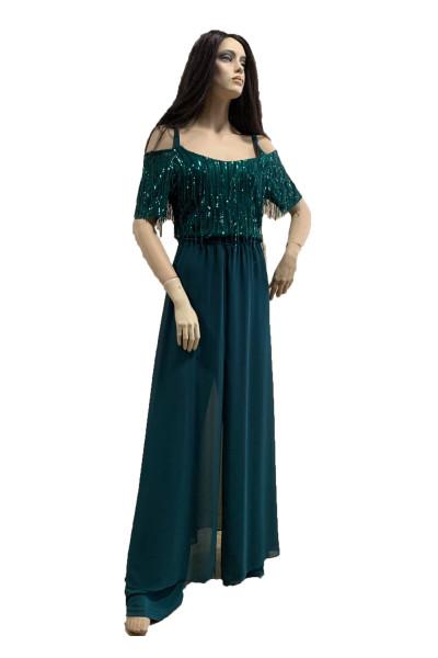 SIDERATI Γυναικεία ολόσωμη φόρμα διπλή κυπαρρισί F7816