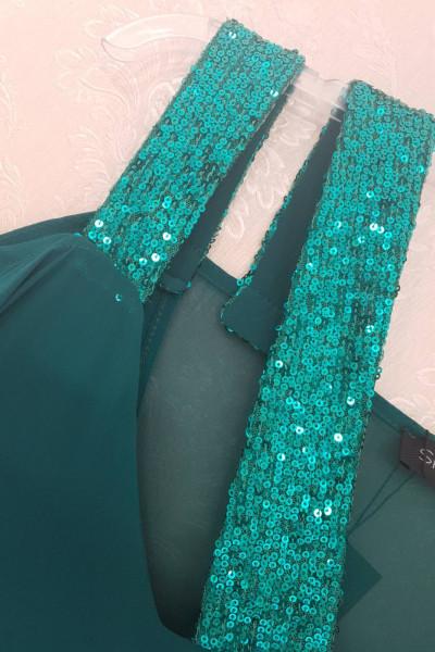 SIDERATI Γυναικείο Φόρεμα μακρύ καφτάνι παγιέτα F8026