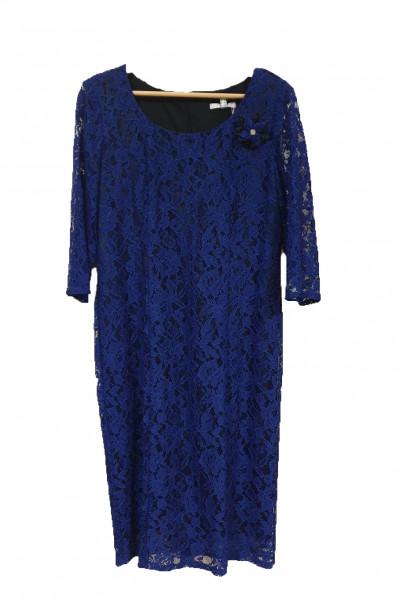 VETO Γυναικείο Φόρεμα 3/4 μανίκι μπλε F3677B