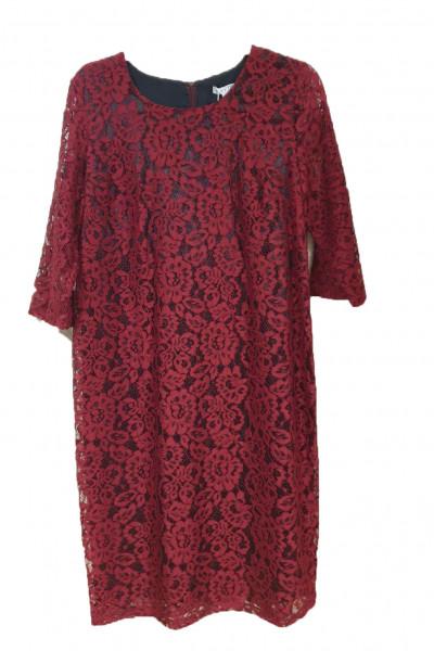 VETO Γυναικείο Φόρεμα 3/4 μανίκι κόκκινο F3677R