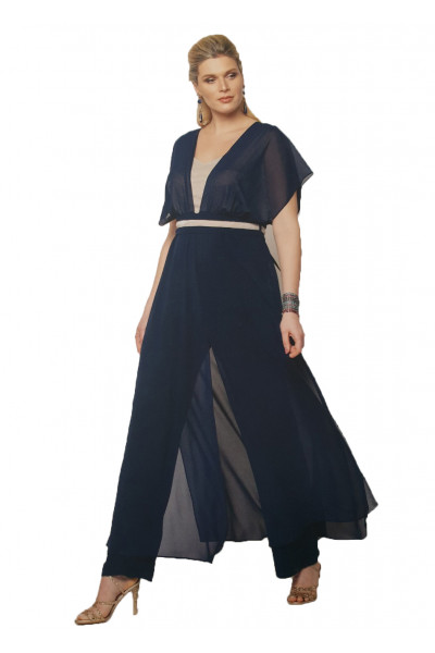 SIDERATI Γυναικεία ολόσωμη φόρμα μπλε χρυσό F7998