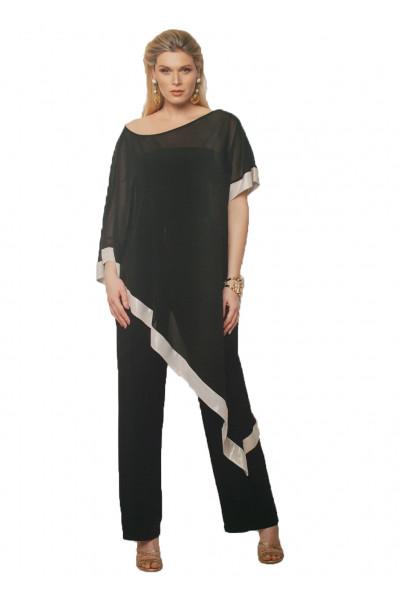 SIDERATI ολόσωμη μαύρη φόρμα μουσελίνα τουνικ F7992