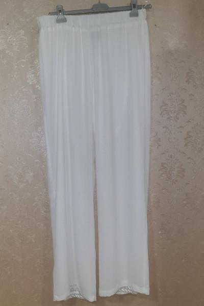 SIDERATI Γυναικεία παντελόνα λευκή εκρού P7954