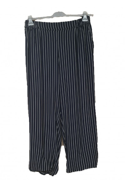 SIDERATI Παντελόνα μπλε ριγέ βισκοζ P6948